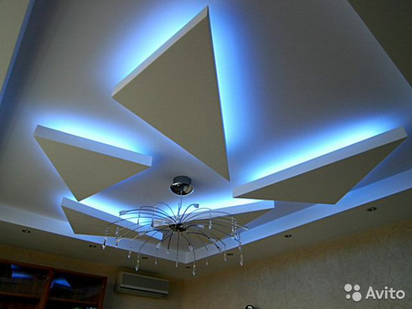Faux plafond bandeau lumineux nice prix renovation for Bandeau lumineux plafond