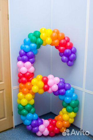 Как из шариков сделать цифру 6