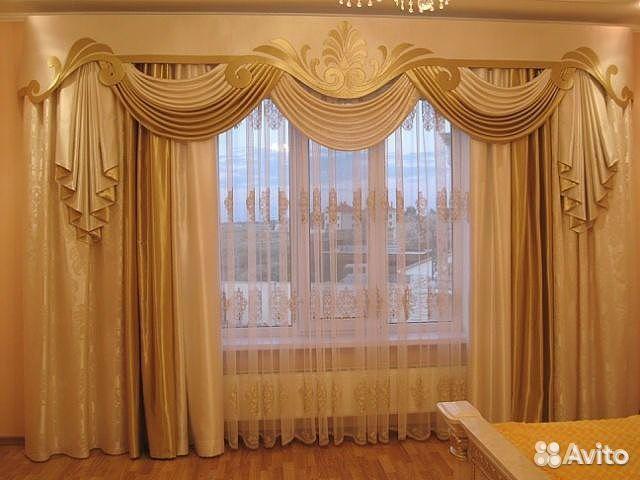 смотреть шторы в зал фото