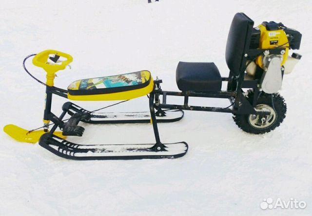 Снегоход из бензотриммера