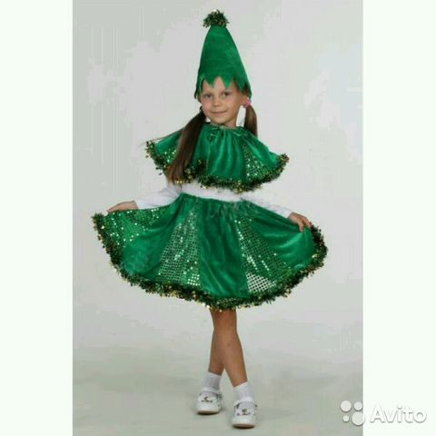 Купить детский маскарадный костюм елочки в москве