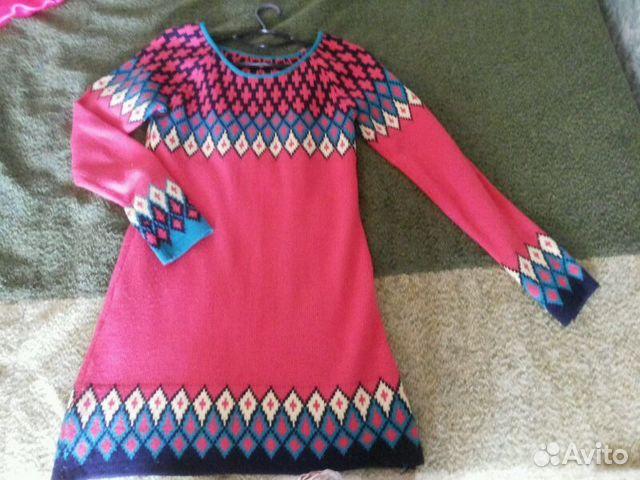 Купить вязаное платье на авито