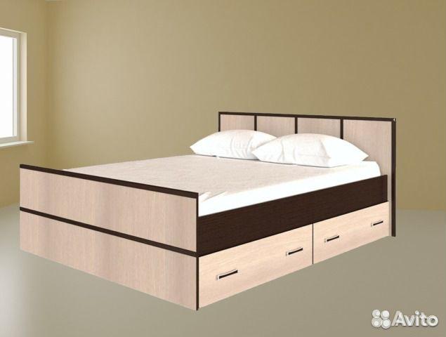 кровать двуспальная с ящиками купить в санкт петербурге на Avito