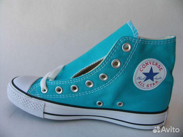 Кеды Converse All Star Высокие Ярко Голубые 38 купить в Санкт ... 8378b6e7191