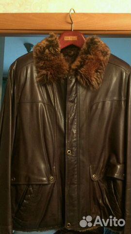 2c1fcf2b8709 Зимняя мужская натуральная кожаная куртка на меху купить в Пермском ...