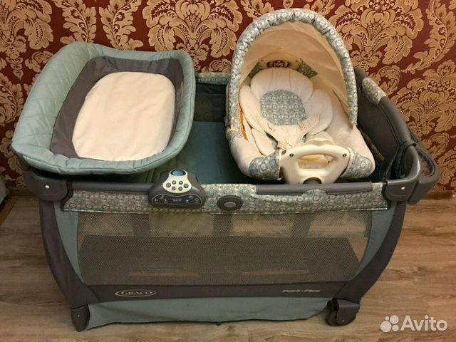 Купить кровать манеж graco cuddle cove winslet
