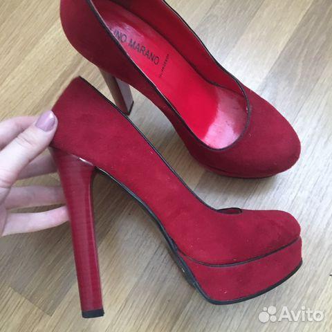 Красные замшевые туфли купить в Санкт-Петербурге на Avito ... 1b8067ba4a80d
