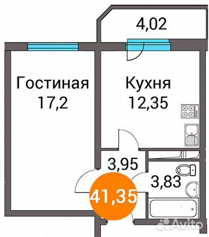 Продается однокомнатная квартира за 2 891 100 рублей. д.п. Зеленоградский, ул. Зеленый город 3.