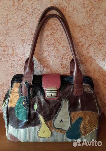 Авторская кожаная сумка ручная работа купить в Санкт-Петербурге на ... 9991d7bffb44a