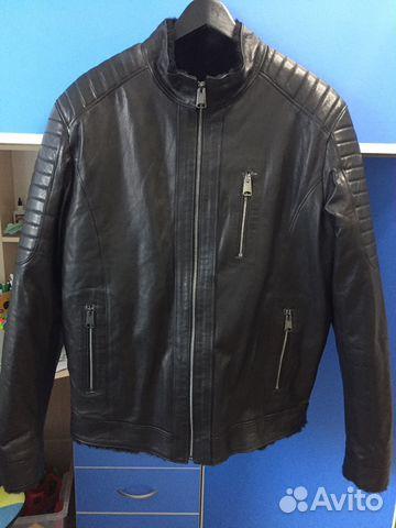 6238e9d4110 Новая зимняя кожаная куртка с натуральным мехом