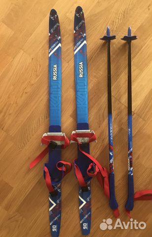 Комплект беговые лыжи, крепления и лыжные палки   Festima.Ru ... 98f17caca41