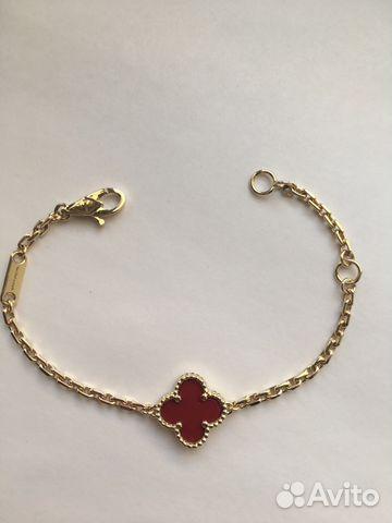 778d6d21b977 Новый золотой браслет Van Cleef с сердоликом 585 купить в Москве на ...