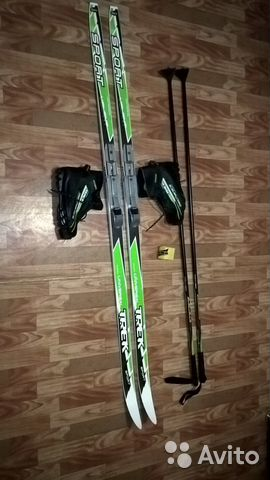 Комплект  беговые лыжи+ботинки+крепления+палки   Festima.Ru ... 06e6a043070