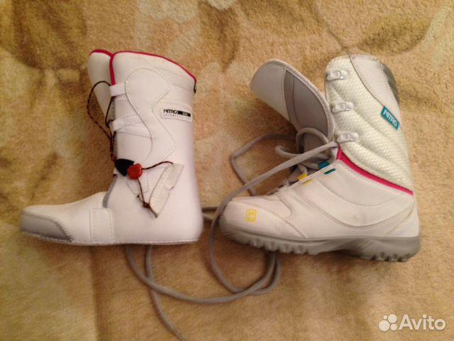 c6479892aa38 Сноуборд с креплениями и ботинками nitro (детский)— фотография №1