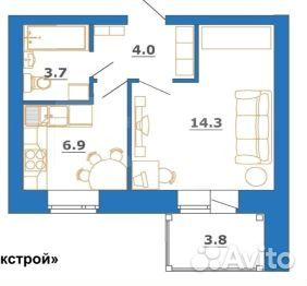 Продается однокомнатная квартира за 1 620 000 рублей. Сусанина, 17.