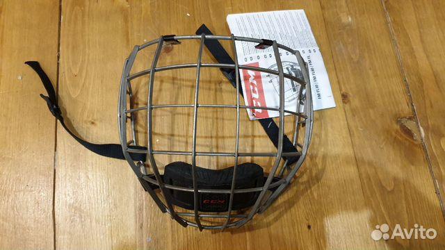 89036020550  Маска решетка на шлем CCM Fitlite, p. S, титан, но