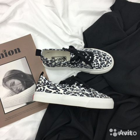 Леопардовые кроссовки, кеды тренд 2019 купить 2