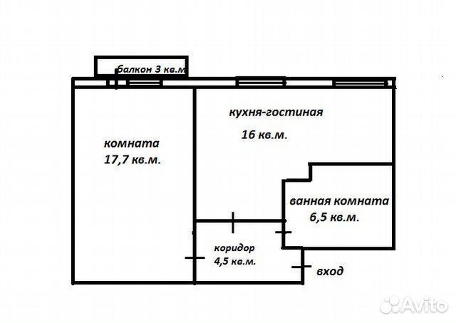 2-к квартира, 44 м², 4/5 эт. 89517372827 купить 1