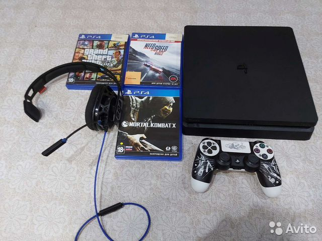 Sony PS4 slim 500 гигабайт  89614744206 купить 1