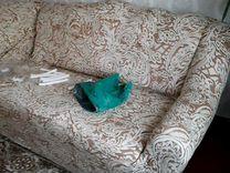 Новый чехол на диван и кресла большое