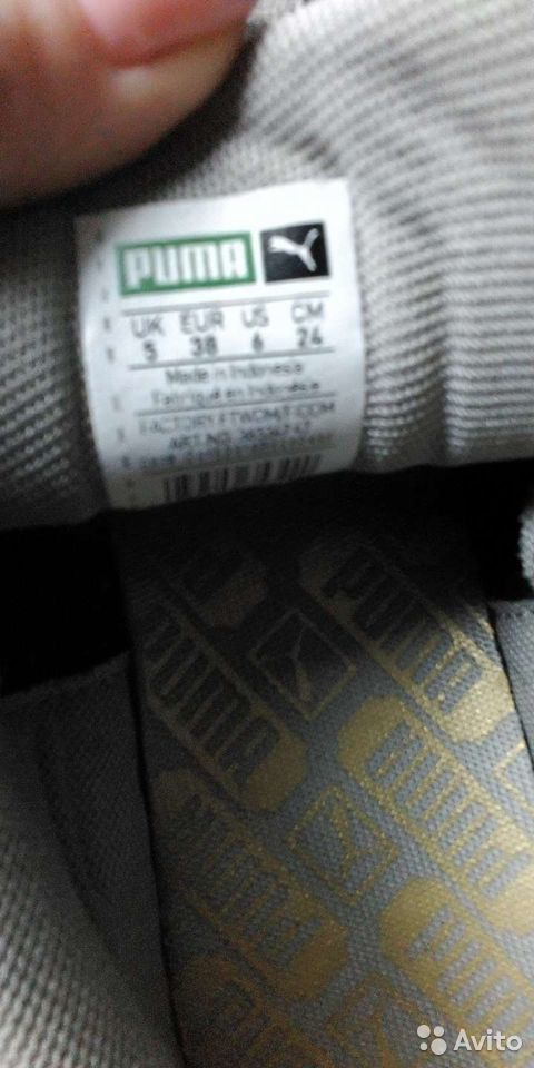 Кроссовки Puma,р.37-38, оригинал,кожа  89272872007 купить 6
