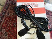 Микрофон петличный, стерео, универсал