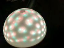 Диско лампа колонка mp3 плеер с разноцветной подсв