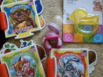 Детские книги, пазлы, прорезыватель