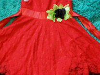 Продам шикарное красное платье