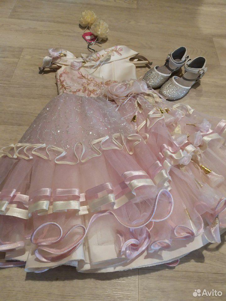 Красивейшее нарядное платье для принцессы+туфли  89854569556 купить 2