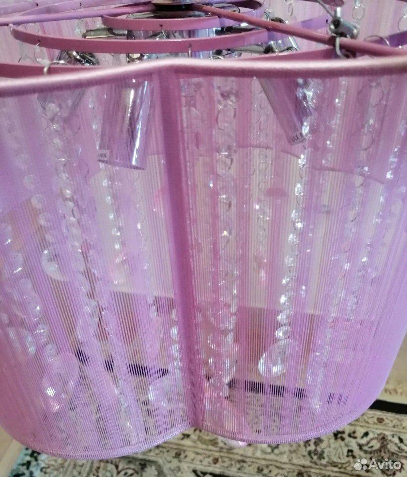Люстра с кристаллами (стекло) на 5 лампочек  89292693193 купить 2