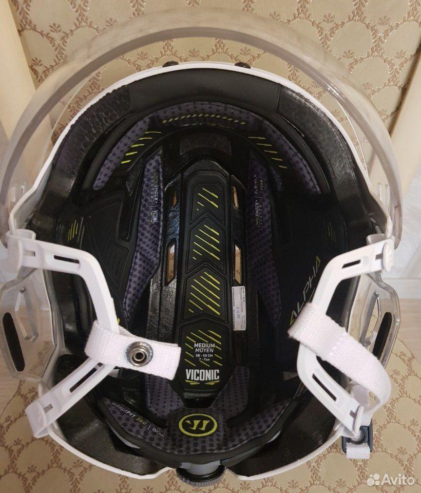 Топовый хоккейный шлем Warrior alpha one. Размер M  89143382906 купить 7